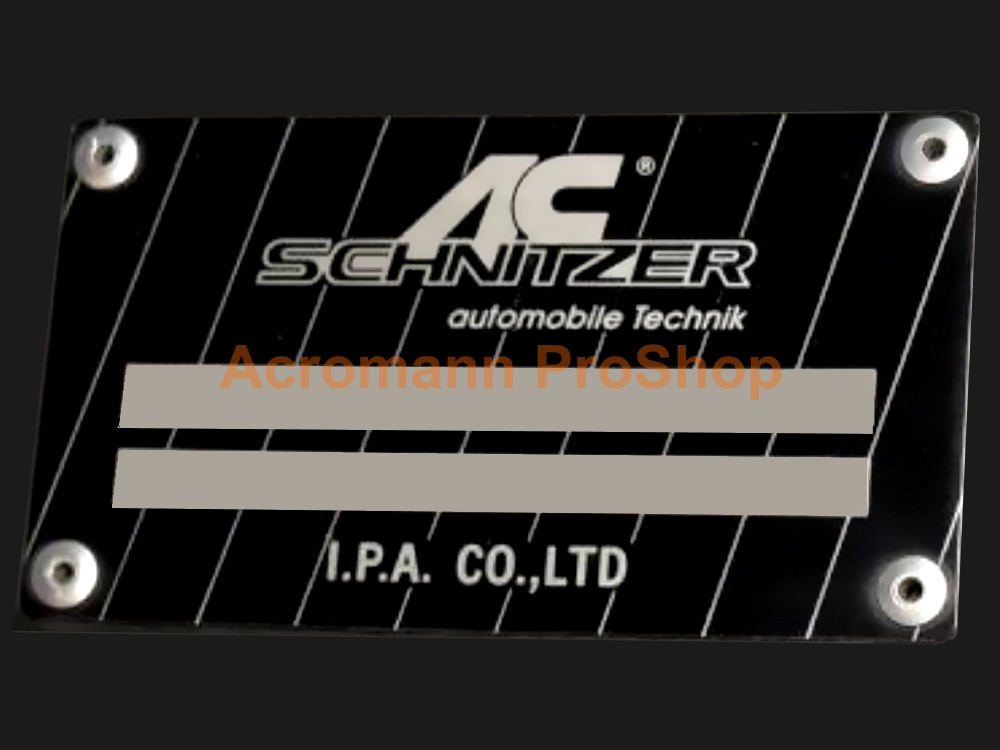 AC Schnitzer Serial Number 3.5inch Decal x 2 pcs